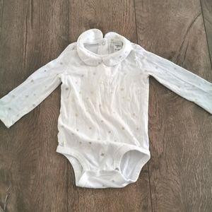 3/$15 Oshkosh B'gosh Peter Pan collar onesie